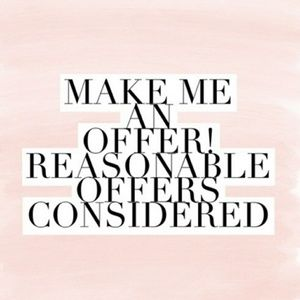 Fair and reasonable offers always accepted!❤